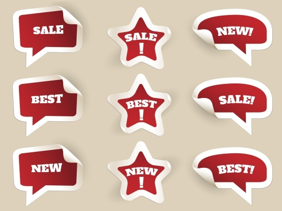 Red Labels. New, best and sale - Graphics