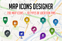 Map Icons Designer-Graphicriver中文最全的素材分享平台