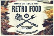 50 Retro Food Logo-Graphicriver中文最全的素材分享平台