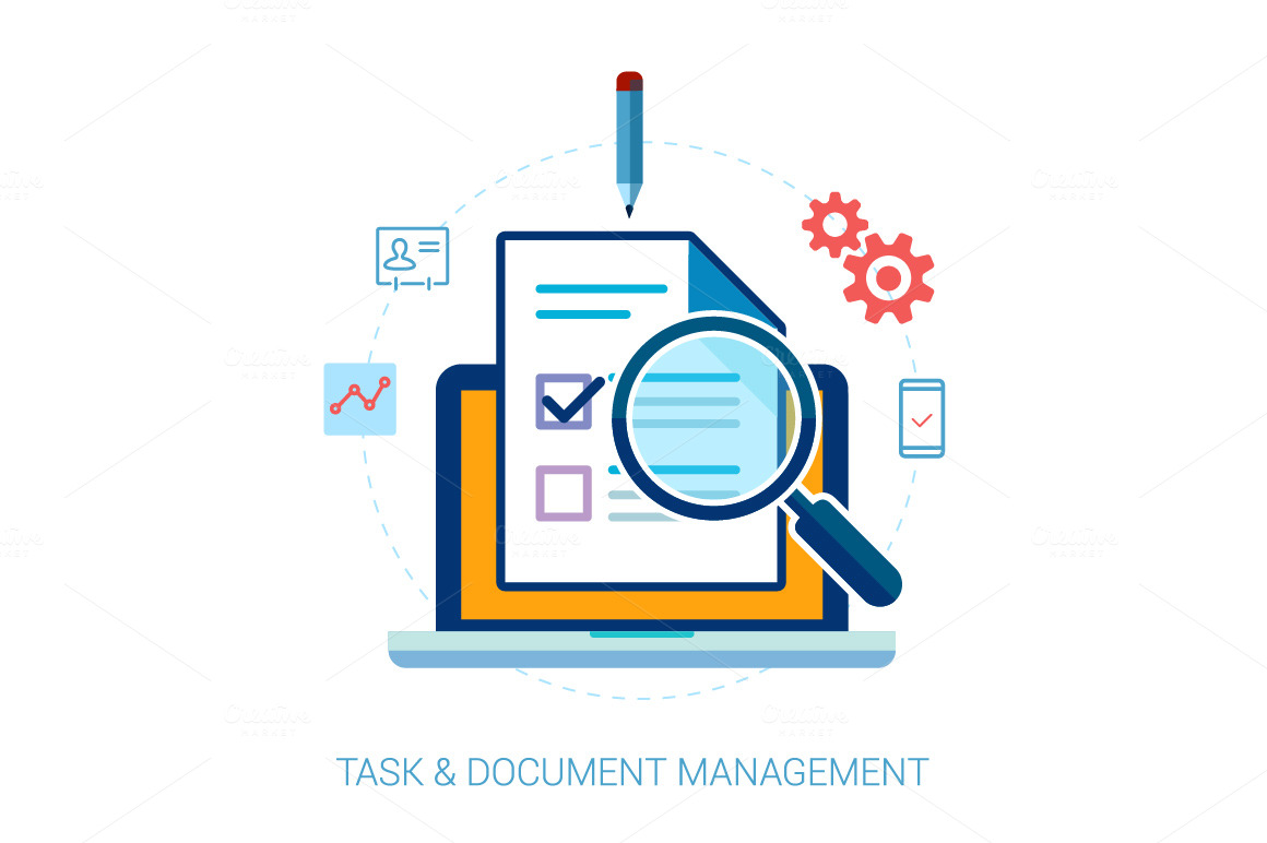 Tasks, Contacts Document Search Icon