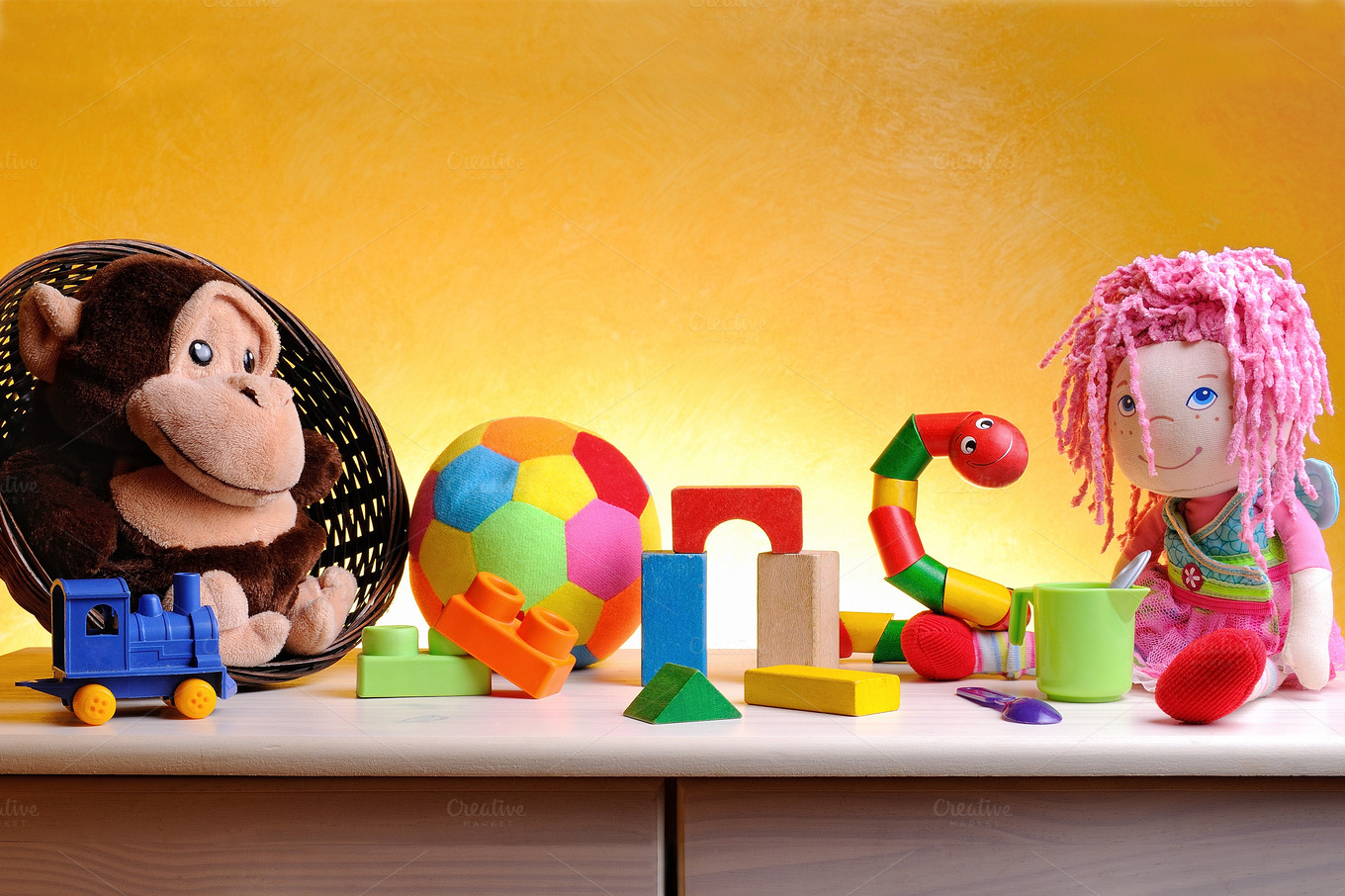Table Top Toys For Preschoolers : Leisure toys for children on a table education photos