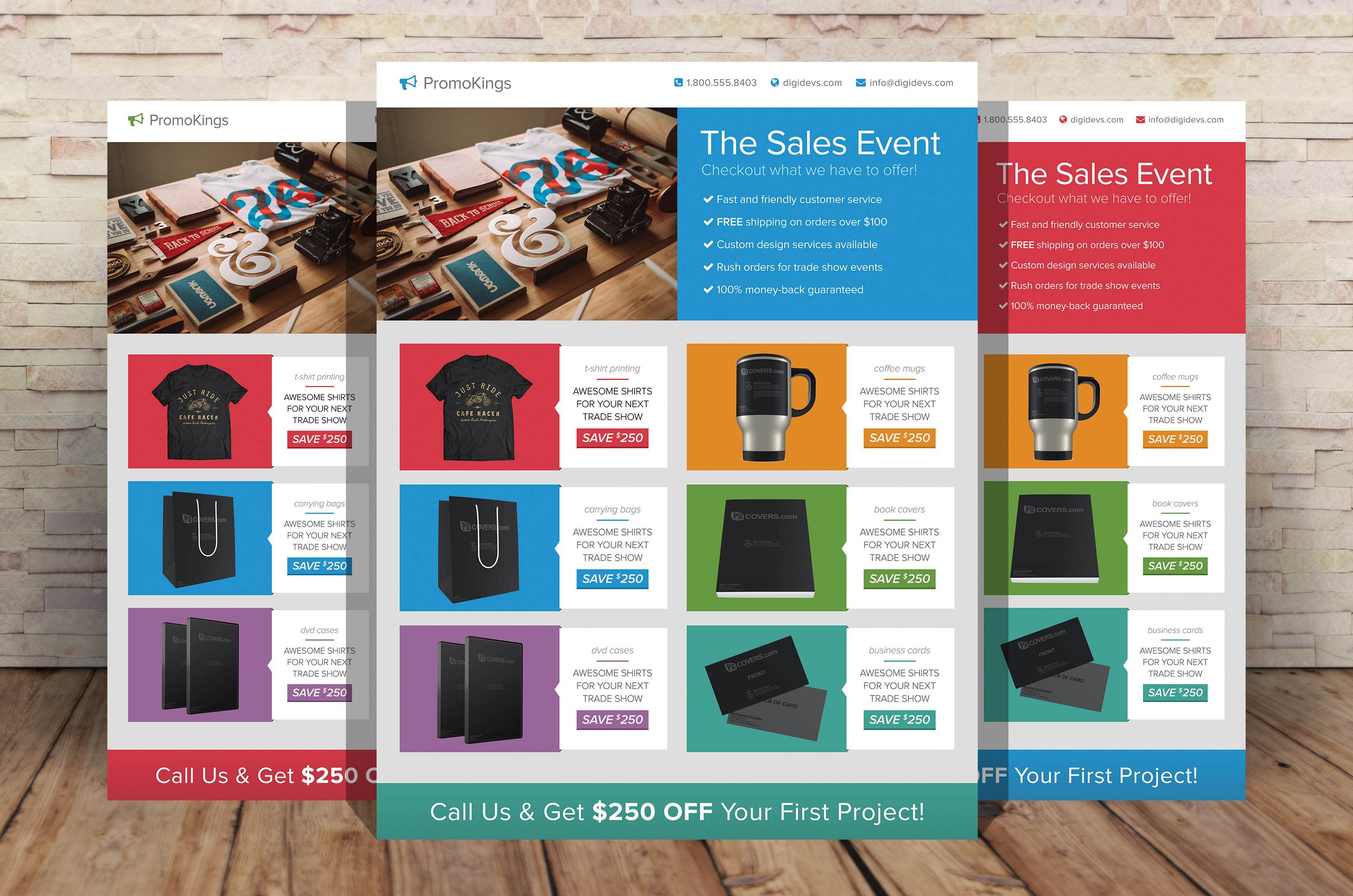 Promotion Marketing Flyers ~ Flyer Templates on Creative