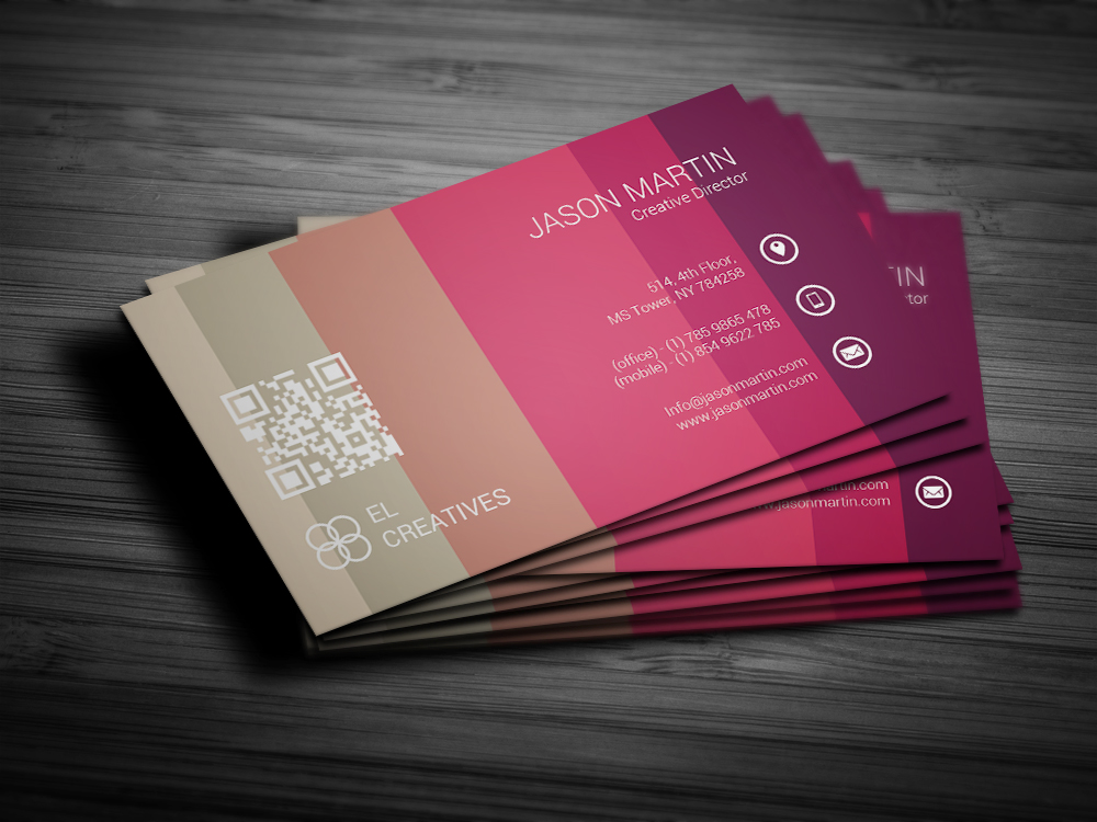 Colorful Unique Business Card Templates On