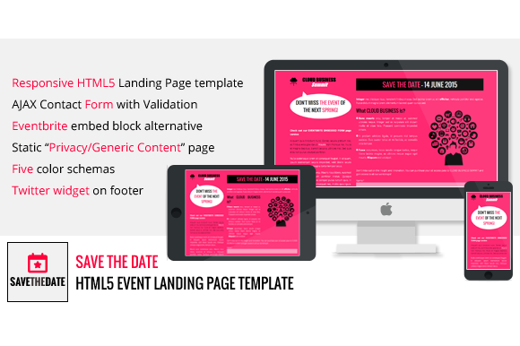 getbootstrap com templates - save the date html5 event landing html css themes on
