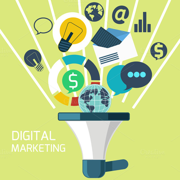 Icons For Digital Marketing Graphics On Creative Market