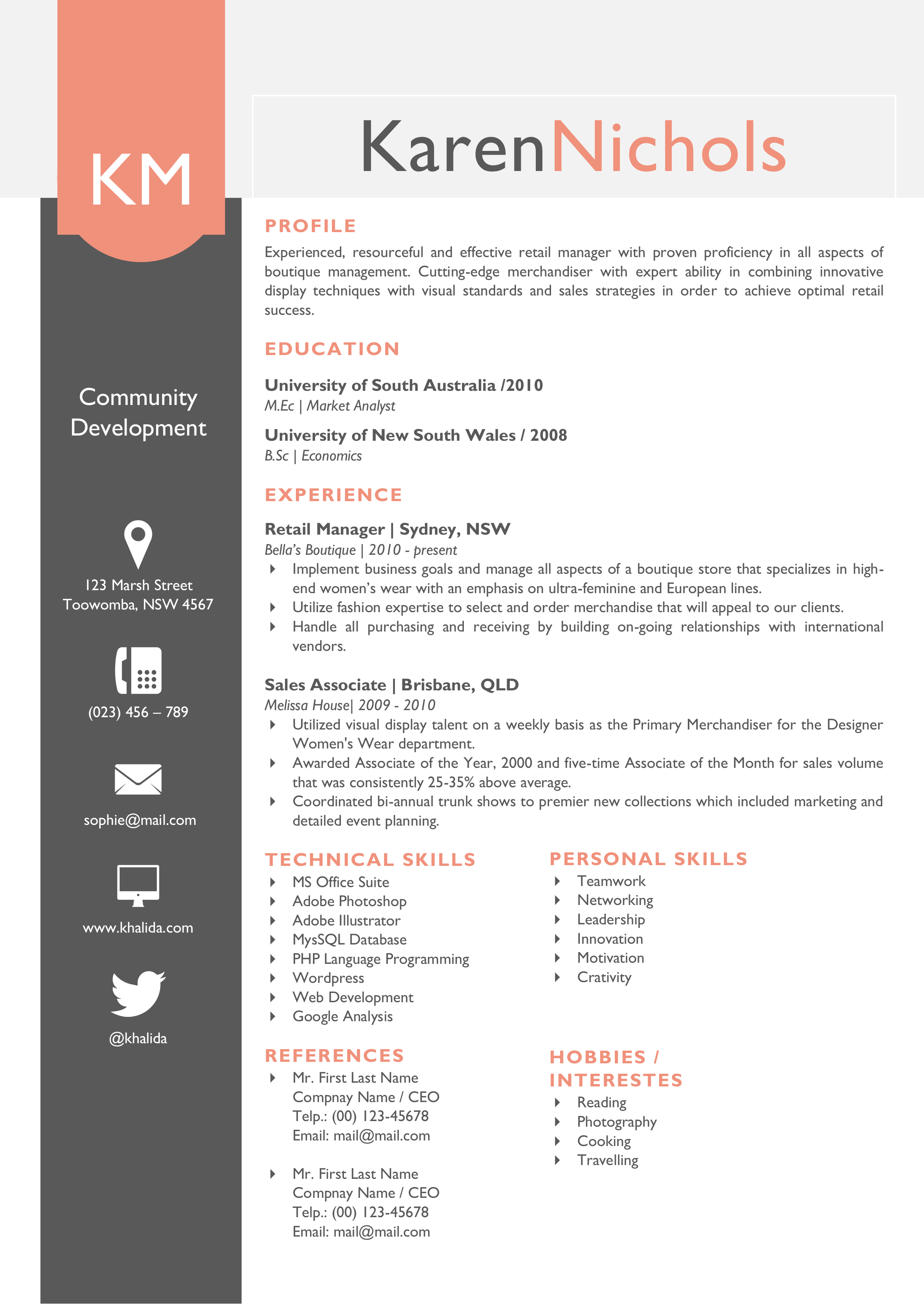 beautiful word resume template pack