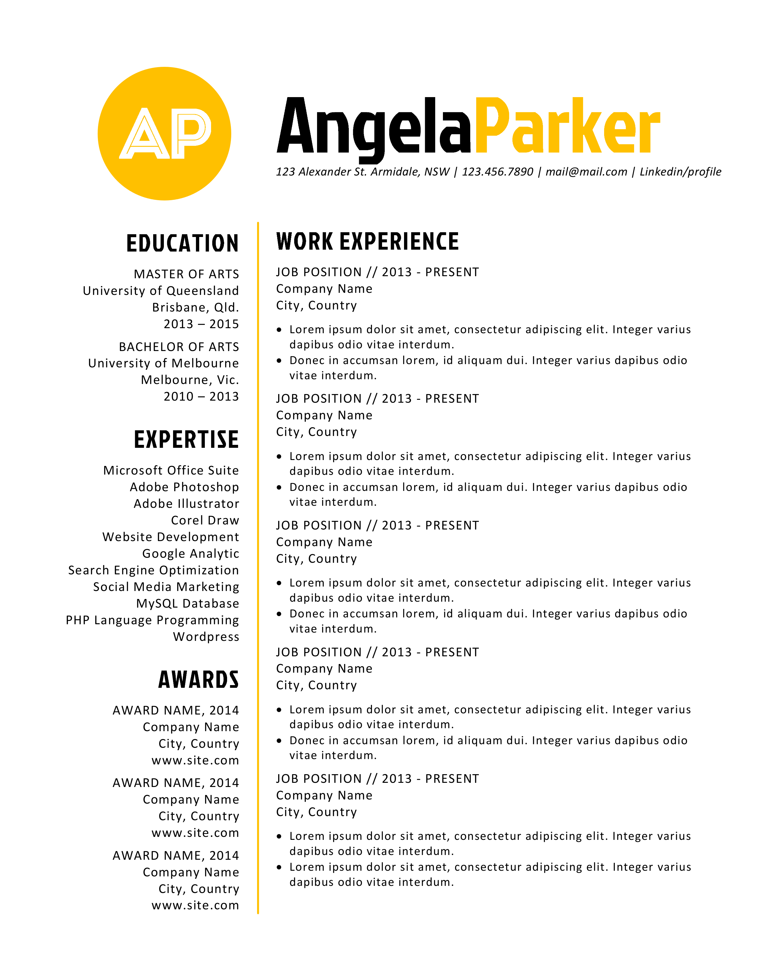 bold initial word resume resume templates on