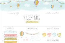 Hot Air Balloon Blog Kit - web kit