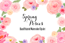 Watercolor Spring Flowers Clip Art