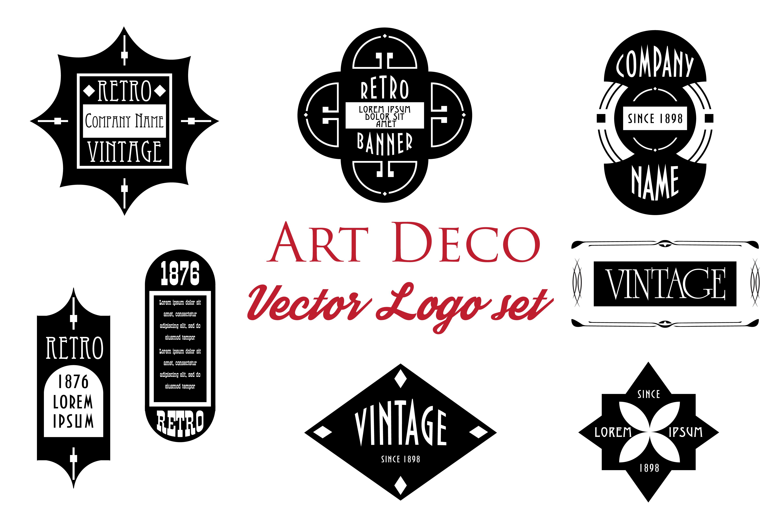 Art Deco Vector Logos Set Web Elements On Creative Market