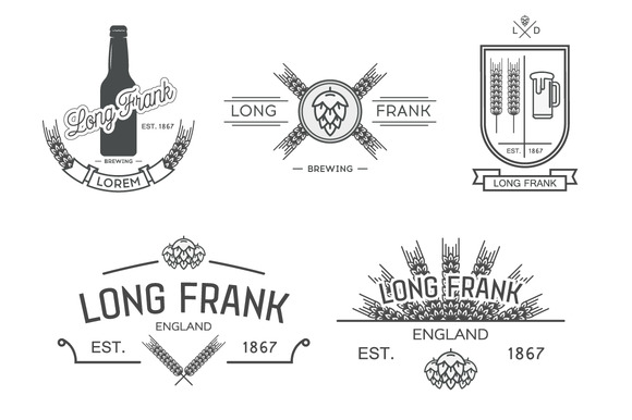 Vector labels of brewery.Part II - Icons