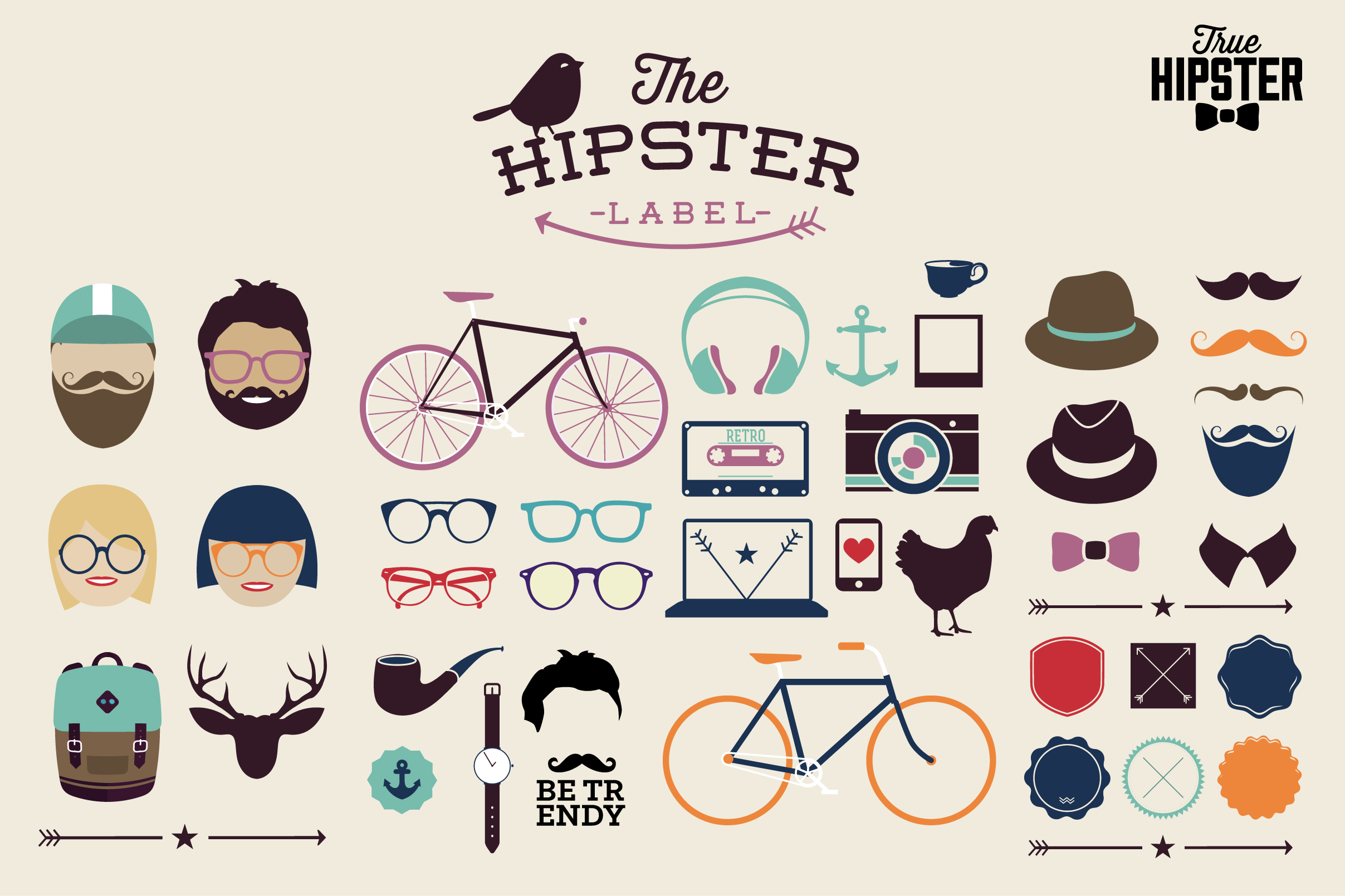 Hipster Design Elements Hipster Elements With