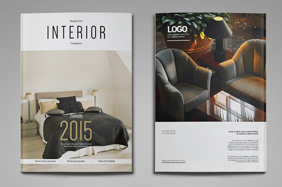 A4 Us Letter Interior Magazine Magazine Templates On