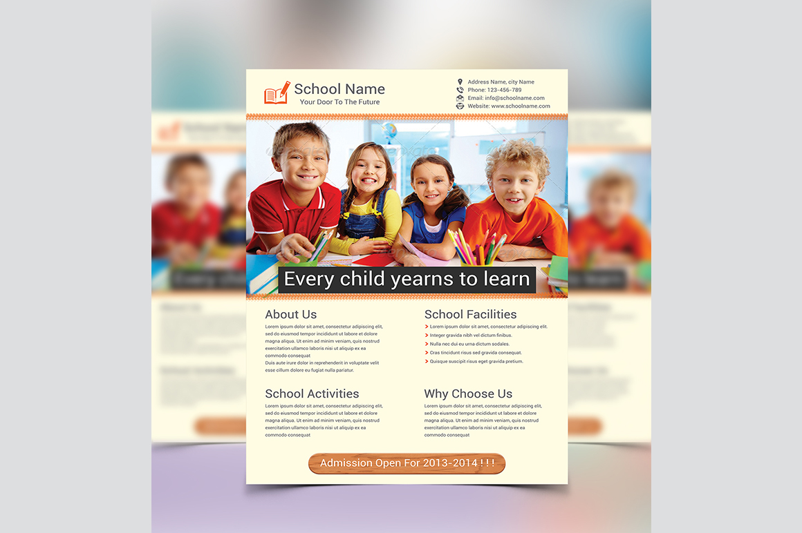 School Education Flyer Template Flyer Templates On
