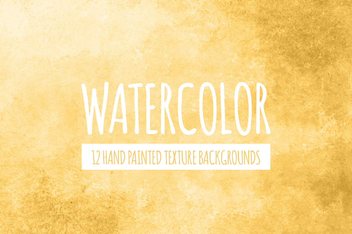 Yellow Gold Watercolor Backgrounds Textures On Creative