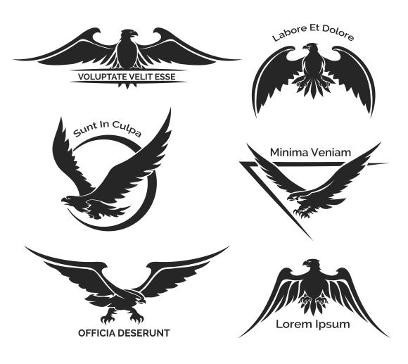 Set Of Eagle Logo Graphics On Creative Market
