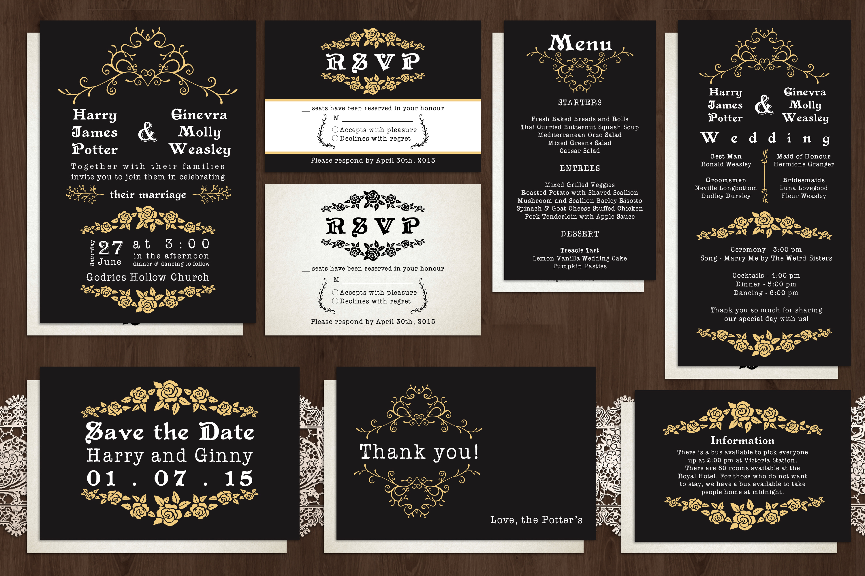 What To Include In A Wedding Invitation Pack: Classic Wedding Invitation Pack