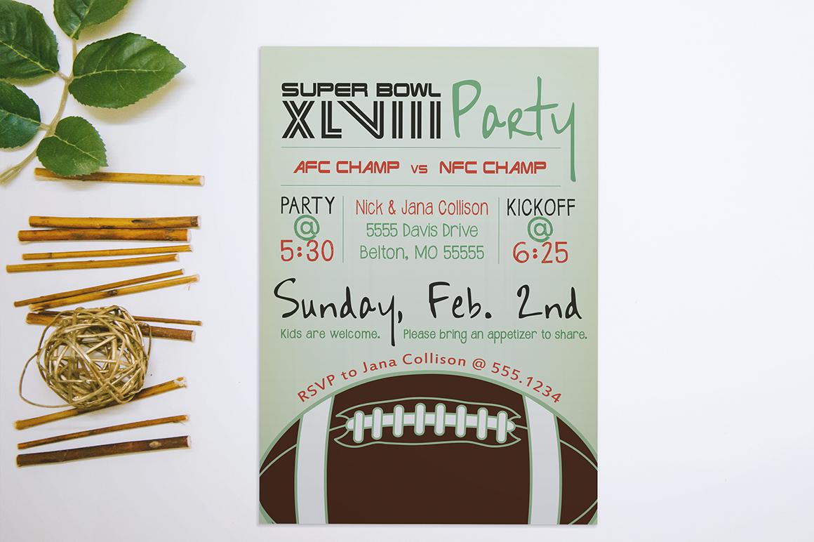 Super Bowl Party Invitation Invitation Templates On