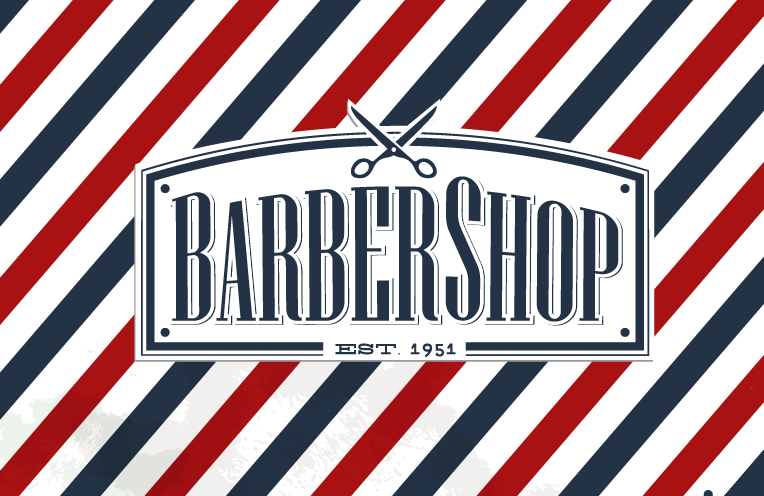 collection of barber shop logo
