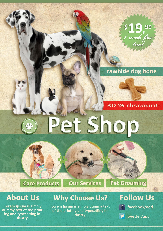 Pet Store Grand Opening Flyer Template Free Erkalnathandedecker