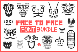 Face to Face Handdrawn Font bundle
