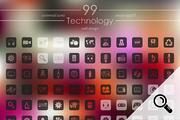 99 TECHNOLOGY icons-Graphicriver中文最全的素材分享平台