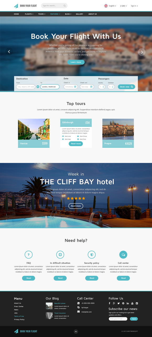 Book Your Flight Booking Template Website Templates On