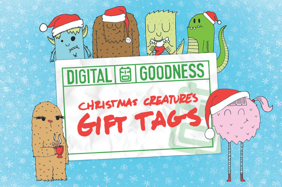 Christmas Creatures Tags