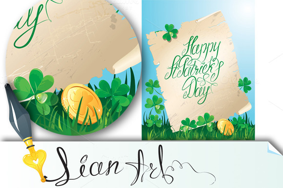 Happy St. Patrick`s Day. Old scroll - Illustrations
