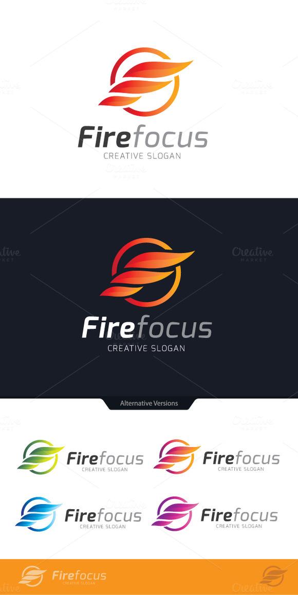 F Letter Fire Focus