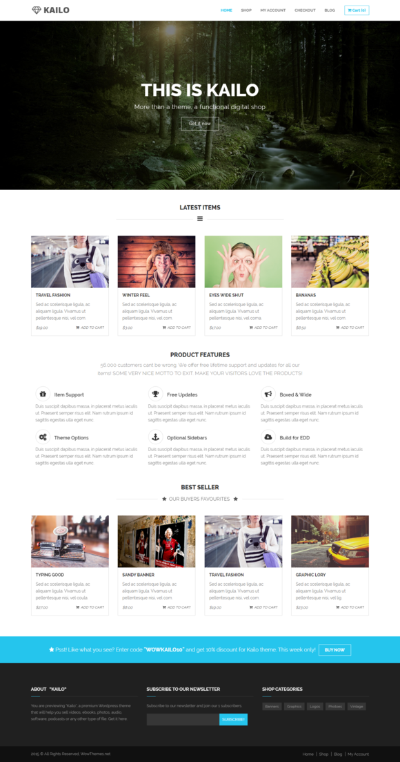 Kailo - WordPress Digital Shop