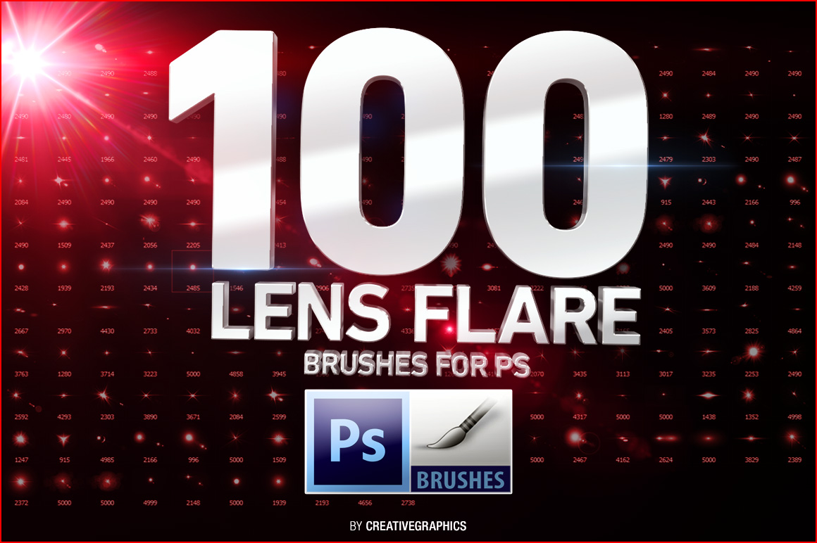 how to add lense flare photoshop