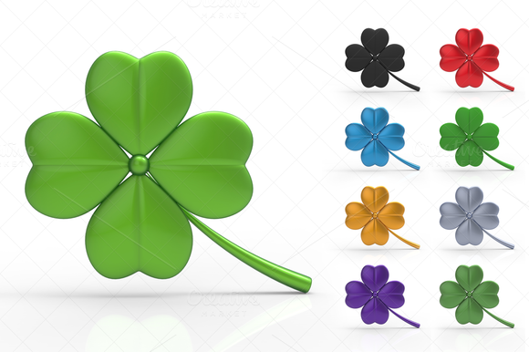 St. Patrick's Day Clover 3D - Graphics