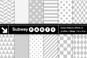 Vector Geometric Patterns in Gray