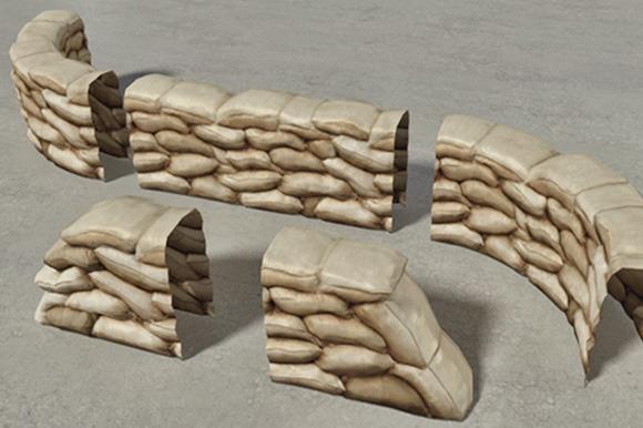 Sandbags Wall Construction Kit