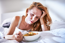 eating chicken soup while sick ~ People Photos on Creative Market