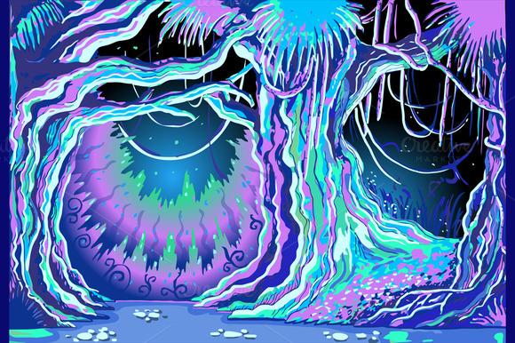 Magic Tale Blacklight Forest Illustrations On Creative Market