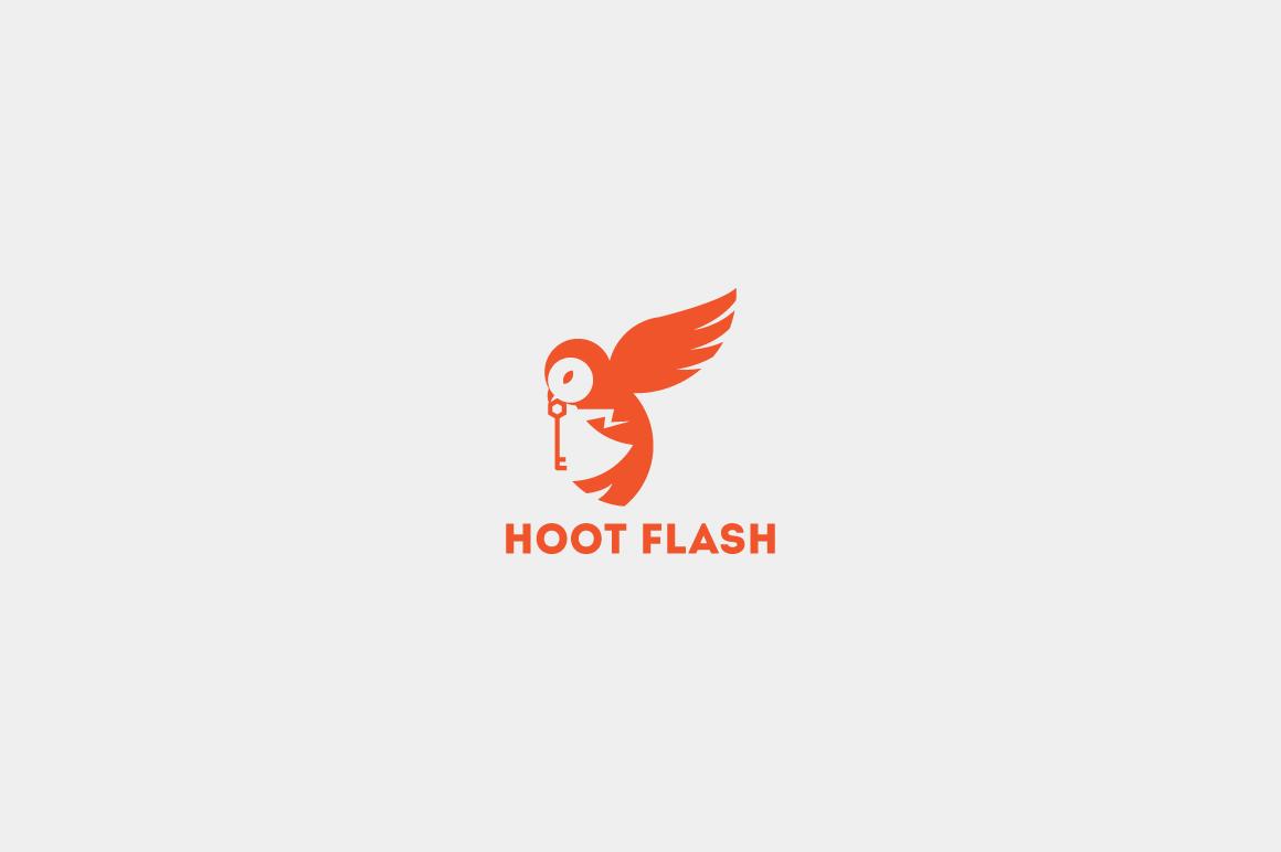 Hoot Flash Logo Templa...