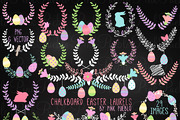 Chalk Easter Laurel Clipart-Graphicriver中文最全的素材分享平台