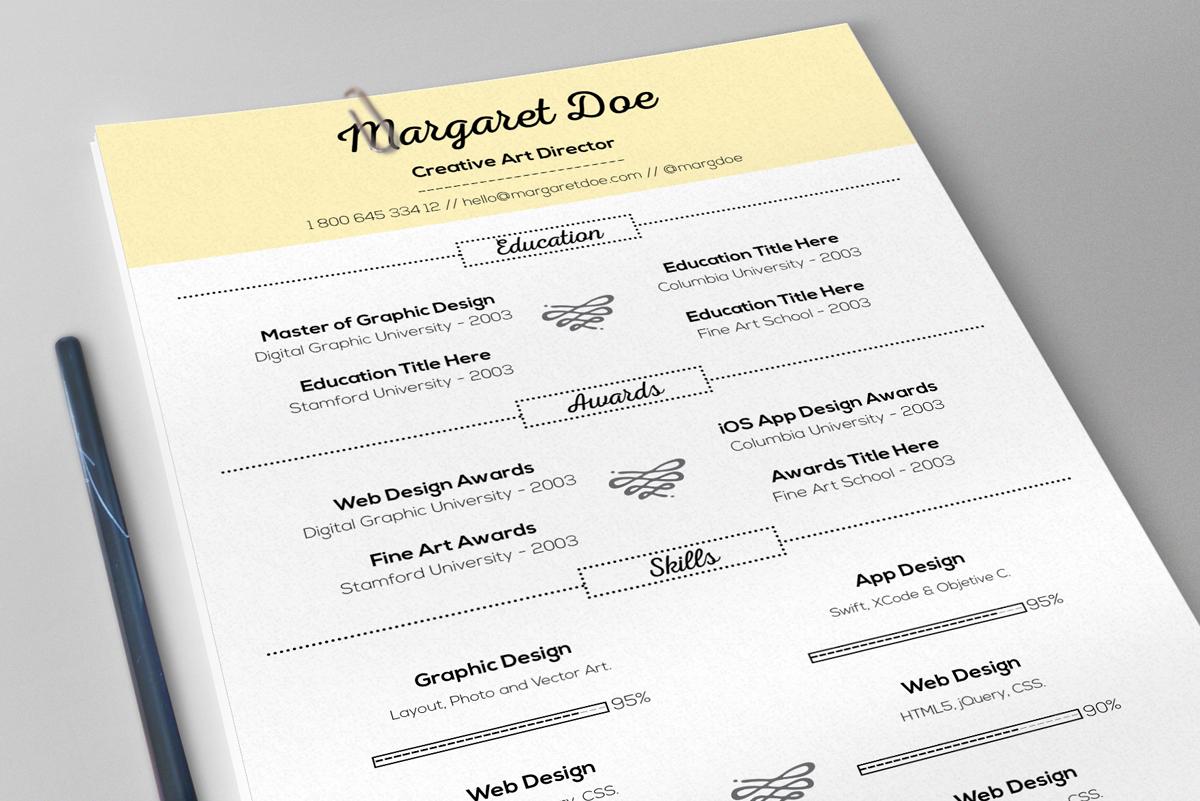 vintage resume  u0026 letter template