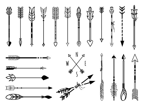 Hand Drawn Arrows Set ~ Graphics On Creative Market