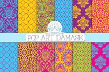 POP ART DAMASK digial paper