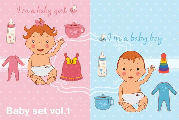 Baby set vol.1 - Illustrations