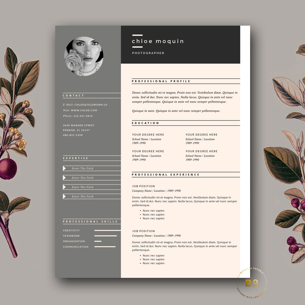 creative resume design  cover letter