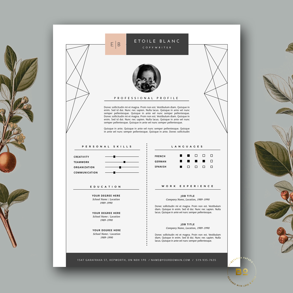 Creative Resume Template For MS Word