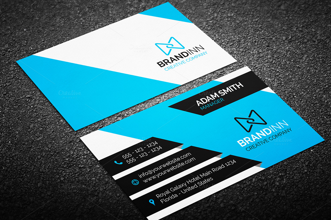 Modern Business Card Template Business Card Templates On