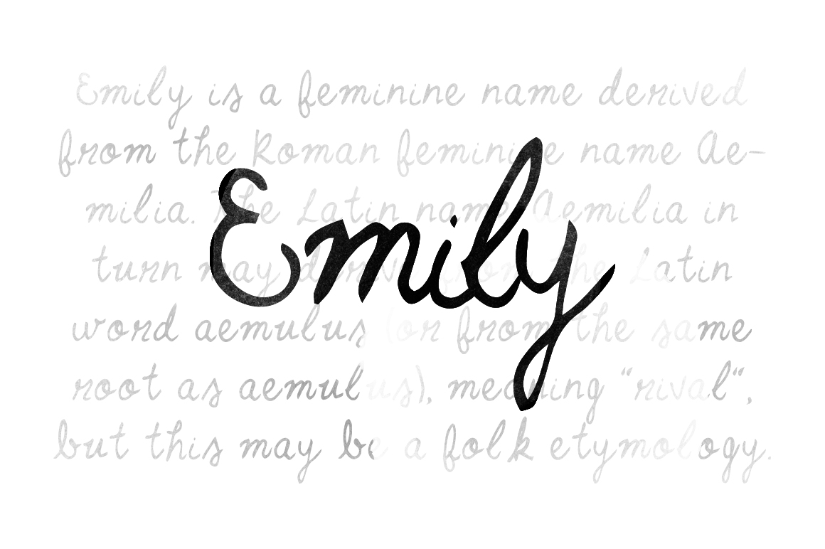 Emily script fonts on creative market