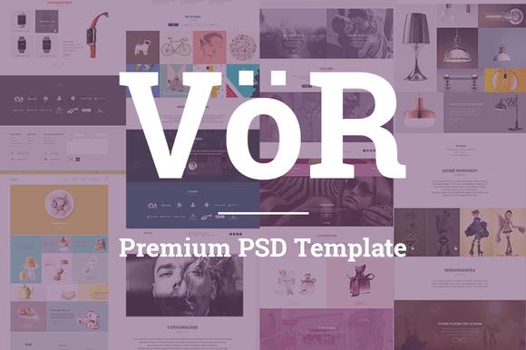 Vor - Multipurpose PSD Template - Websites - 1