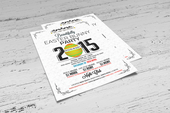 Easter Bunny Party Flyer Template - Flyers - 3