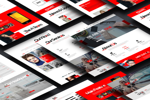 D One - Creative Agency Onepage PSD - Websites - 1